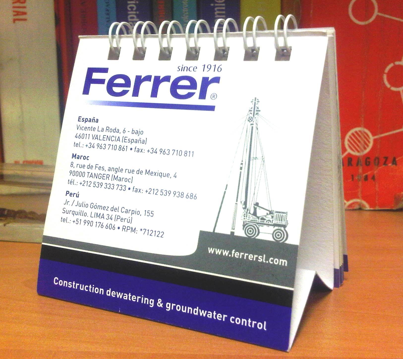 Calendario 2011 Espana.Calendario Ferrer 2011 Ferrer S L