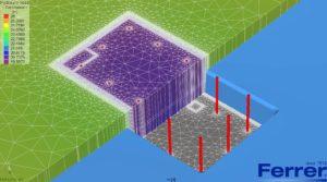 Modelo matemático flujo Feflow en edificio de viviendas de Málaga