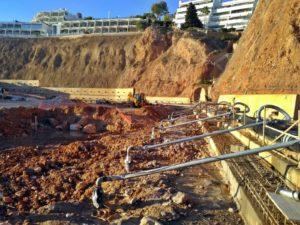 Obras de un parking subterráneo en Puerto Portals (Calvià)