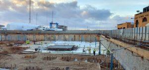 Dewatering en las obras de un parking subterráneo en Puerto Portals (Calvià)