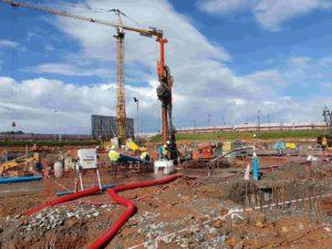 Dewatering en las obras de la torre Mohammed VI en Rabat (Marruecos)