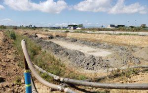 Obras de la nueva depuradora de aguas residuales de Tarragona