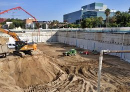 Dewatering en obras de promoción inmobiliaria en la Zona Franca de Barcelona.