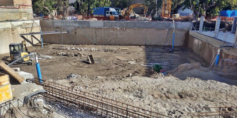 Dewatering Mixto en obras de edificio de viviendas de Valencia