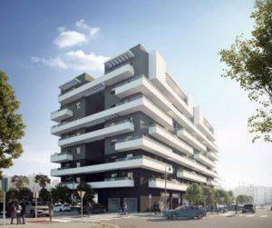 Imagen virtual de edificio de viviendas en Estepona