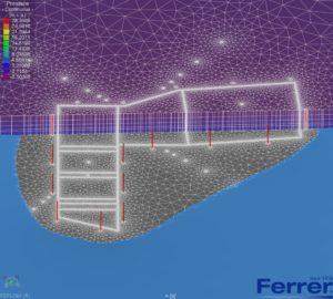 modelo matemático flujo Feflow de la depuradora de aguas industriales de Tarragona