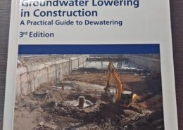 Groundwater lowering in construction.