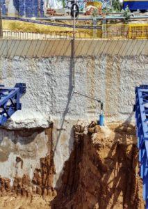 Dewatering en las obras de promoción residencial Marina Park, en l'Hospitalet de Llobregat