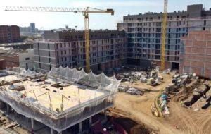 Obras de la promoción de viviendas Marina Park en l'Hospitalet de Llobregat