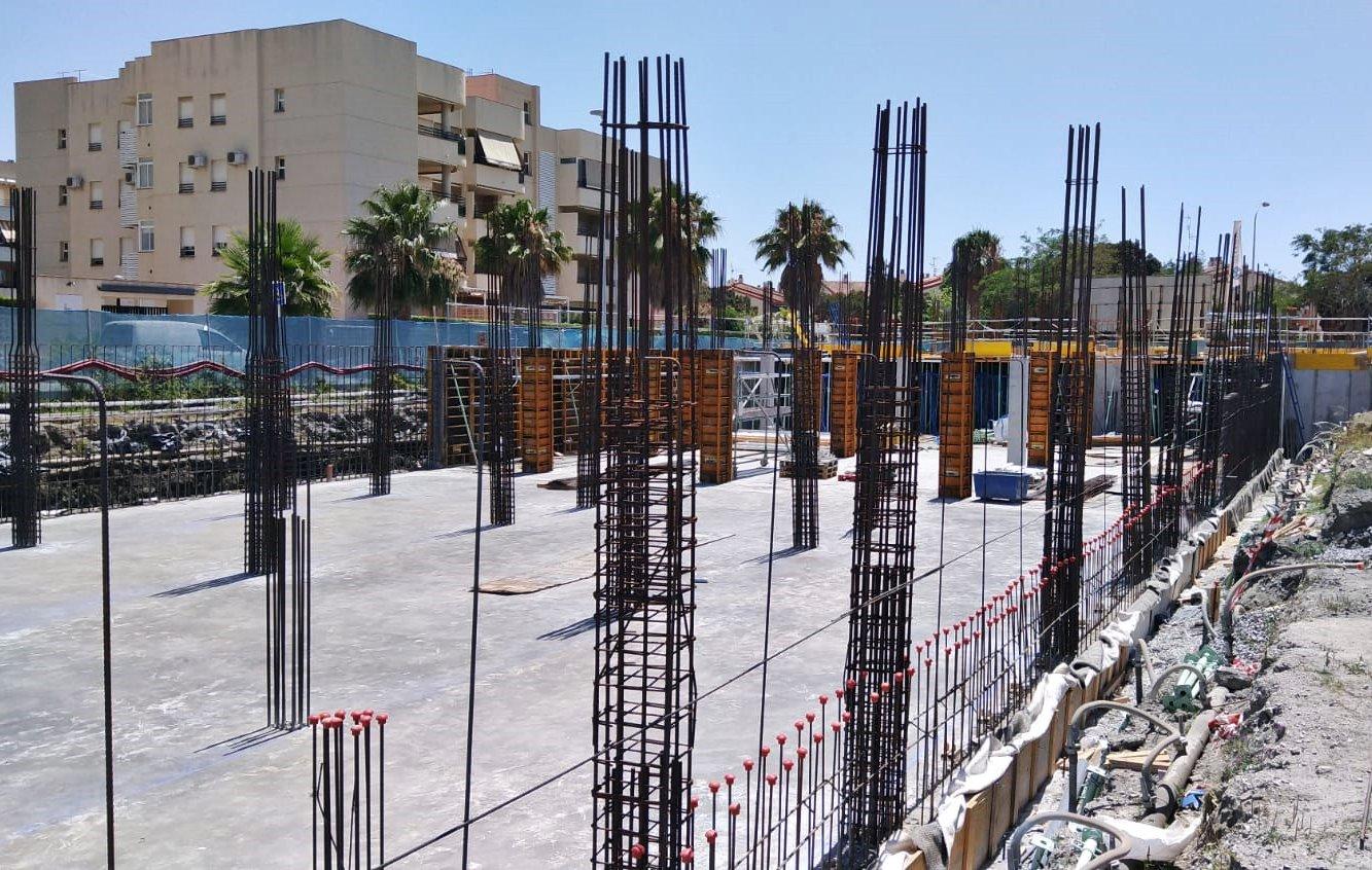 Obras en un complejo residencial en Salobreña