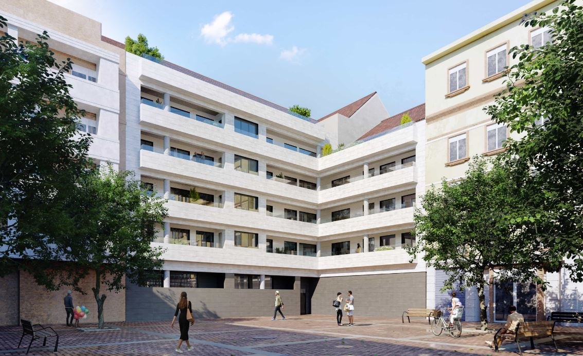Imagen virtual del Edificio Cabanyal Nou en Valencia