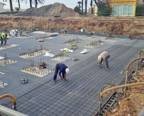 Construcción de un edificio de viviendas en Denia.
