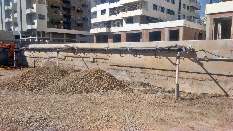Dewatering en un edificio de viviendas de Proyme en Valencia.
