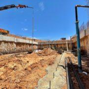 Dewatering en las obras de ampliación de la EDAR de Palma de Mallorca.